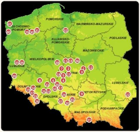 Revierkarte Polen